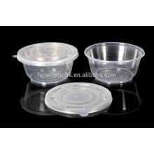 Envase de comida plástico disponible 600ml