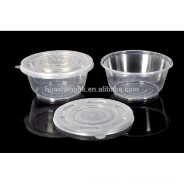 600ml disposable plastic food container
