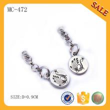 MC472 Promoción aleación de zinc regalos personalizados cadena metálica con logotipo