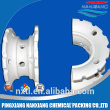 150mm Ceramic packing saddle ring for tower random packing( professional saddle novalox manufacturer)