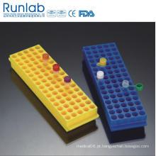 Racks Reversíveis Polyproyplene de 80 poços para Microtube