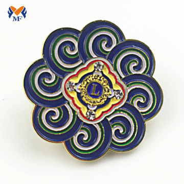 Flower shape custom metal badge lapel pins