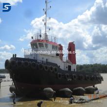 Vente chaude de bateau de lancement et de levage des airbags gonflables en caoutchouc marins