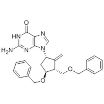 2-Amino-1,9-dihydro-9-[(1S,3R,4S)-4-(benzyloxy)-3-(benzyloxymethyl)-2-methylenecyclopentyl]-6H-purin-6-one CAS 142217-81-0