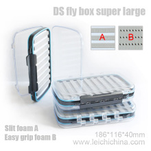 Palstic Fly Box Super Large with Slit Foam
