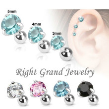 316L Surgical Body Piercing Free Sample Earrings For Tragus Piercings