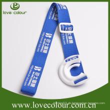 Kundenspezifische Polyester-Wasser-Flaschen-Halter-Abzuglinie für fördernde Geschenke
