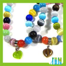 Fancy Edelstein Perlen Glas Opal Perlen Armbänder