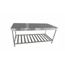 kitchen application stainless steel table with rock