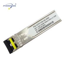 Módulo de luz SFP gigabit 1.25G, longitud de enlace de 2-80 km y baja disipación de potencia