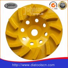 175mm Diamond Swirl Wheels for Concrete