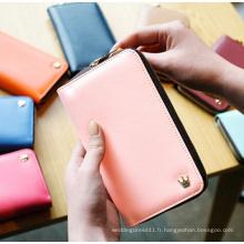 Portefeuille coréen de sac à main de carte de Smartphone de concepteur coréen