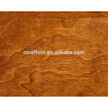O chanfro grande do assoalho de madeira multilayer do plano do vidoeiro Revestimento de madeira multicamado projetado