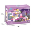 Cafe Game Children's Plastic Educational Building Bricks