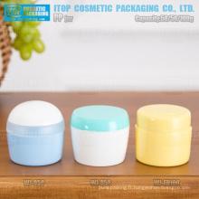 50g et 100g de bonne qualité doubles couches différentes beau bocal vide attractive pp crème de forme ronde