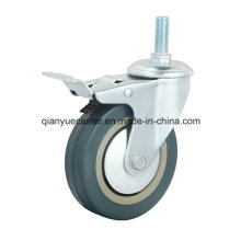 Grey Rubber/PVC Light Duty Castors