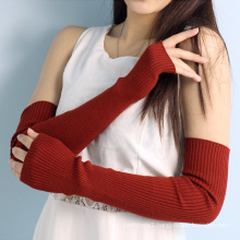 wholesale in stock ladies fashion long hand wool dress gloves