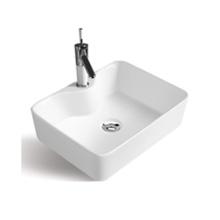 wholesale rectangular hotel bathroom table top single hole hand wash art basin