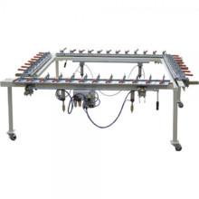 Mesin elektronik skrin Sutera percetakan mesh regangan
