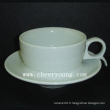 Coupe et soucoupe en porcelaine exotique (CY-P527)