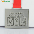 Leverera Custom Metal Souvenir Award Medal Med Ribbon