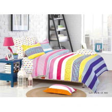Alta qualidade 100% algodão colorido impresso nupcial cama conjunto