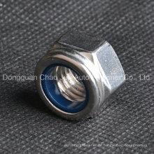 Edelstahl-Nylon-Sicherungsmuttern DIN982 DIN985