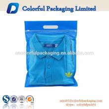 Bolsas plásticas transparentes resellables ziplock de encargo de la impresión para la ropa