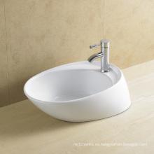 Irregular lavabo de arte de cerámica para el baño (8024)