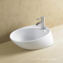 Bassin d'art en céramique irrégulier pour salle de bains (8024)