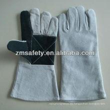 Guantes de soldadura de cuero reforzado con color grisJRW42