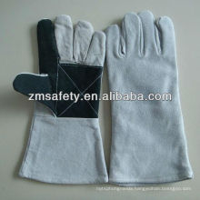 Reinforced leather welding gloves with grey colourJRW42