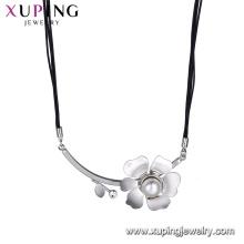 necklace-00634 xuping imitation de bijoux, perle d'imitation et pendentif en cristal collier de luxe pour les femmes