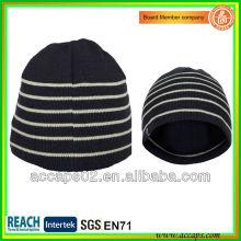 Bonnet en maille acrylique de qualité noire avec votre logo BN-2040