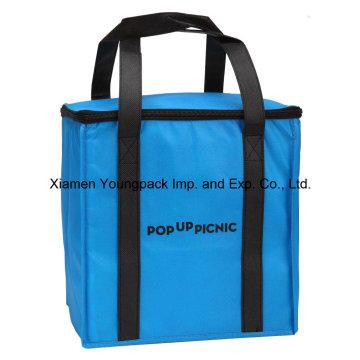 Logotipo personalizado promocional impreso gran no tejido tejido más frío bolsa