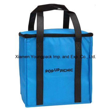 Promotional Custom Logo Printed Large Non-Woven Insulated Cooler Bag