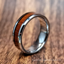 Polishing Tungsten Carbide Ring Jewelry with Inlaid Wood
