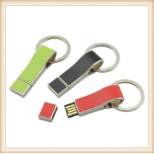 2015 New Leather Keychain Colorful USB Pendrive (EL013)