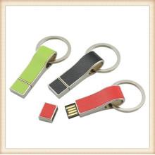 2015 Novo Keychain de couro USB colorido Pendrive (EL013)