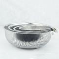 5-quart metal acessórios de cozinha em aço inoxidável tigela de legumes coador