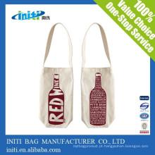 China moda promocional saco de garrafa personalizado para o vinho