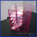 China Wholesale Custom Vanity Pink Clear Acrylic Cube Boxes
