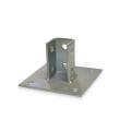 Os acessórios dos encaixes da canaleta de aço do mergulho quente galvanizaram a placa de base quadrada de aço do cargo