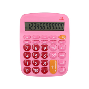 12 Digits Office Desk Calculator with Heart Shape Button
