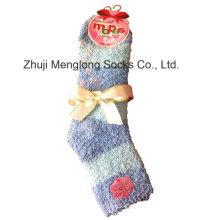 Suave microfibra caliente dama pluma hilados calcetines