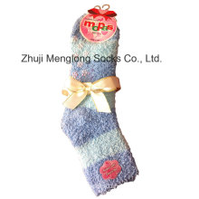 Soft Warm Microfiber Lady Feather Yarn Socks