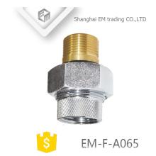 EM-F-A065 Messing vernickelt Kupfer Russland Rohrverschraubungen