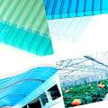 Folhas ocos de policarbonato de múltiplas paredes para materiais de estufa resistentes a UV