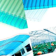 Hojas huecas de policarbonato de múltiples paredes para material de invernadero resistente a los rayos UV