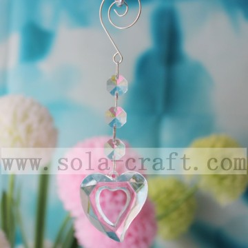 Heart Crystal Prism Pendant Wedding Chandelier Tree Decor